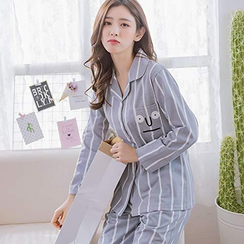 Righe Casual A m In Lunghe Maniche Homewear Xl Cotone Dukunkun Set Pajama qxvAwz8