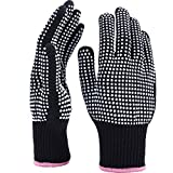 TecUnite 2 Pieces Heat Resistant Gloves Silicone Non-slip Gloves...