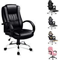 ALFORDSON Gaming Chair Racing Office Chair Computer Desk Chair PU Leather High Back Chair with Footrest Red Colour
