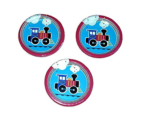 Creative Converting All Aboard Train Birthday Party 7'' Plates (24) by Party Creations Sturdy Style