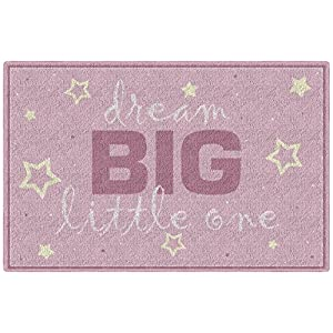 Brumlow Mills Dream Big Pink Baby Girl Nursery Rug, 1'8″x2'10""