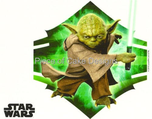 1/4 Sheet ~ Star Wars Yoda Birthday ~ Edible Image Cake/Cupcake Topper!!! ()