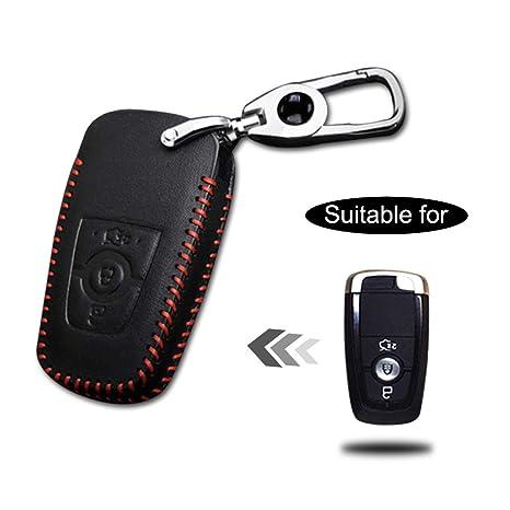 WOQUi Cover in pelle per chiave Custodia protezione per chiave con 3 tasti Guscio coprichiave protettivo in pelle per chiavi macchina