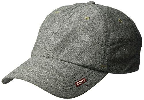 A. Kurtz Men's Chambray Baseball Cap, Black, OSFA ()