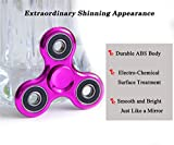 UGOUPRO Hand SpinnerEDC Tri Fidget Toy Chrome fidget spinner, Stress Reducerfor ADD, ADHD, Anxiety,Kids and Adults (Chrome pink)