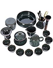 Enameled cast iron kung fu tea set retro domestic ceramic ice cracking teapot teacup