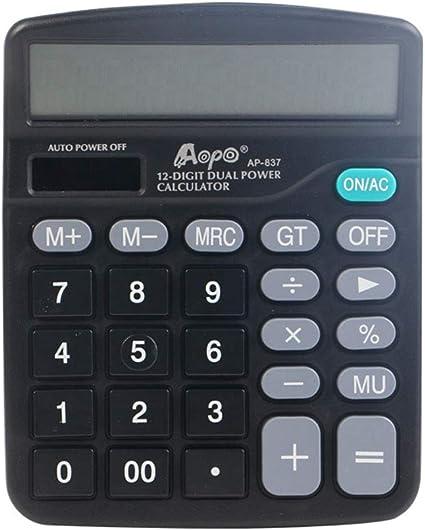 Calculadora Científica, De 12 Dígitos Negocios Oficina Ordenador Pantalla Grande Centro Comercial Financiera De La Caja Registradora De La Calculadora: Amazon.es: Oficina y papelería