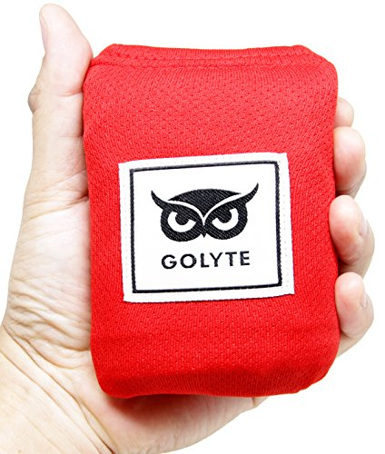 Golyte Picnic Blanket / Beach Blanket Easy Foldable Large Mat Compact Pocket Lightweight Sand Proof / Waterproof for 2 to 4 people with Sand Pockets Corner Loops Red