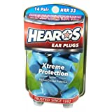 HEAROS Xtreme Protection Noise Cancelling Disposable Foam Earplugs NRR 33 Hearing Protection (14 Pairs)