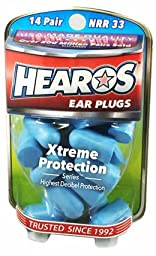HEAROS Xtreme Protection Noise Cancelling Disposable Foam Earplugs NRR 33 Hearing Protection