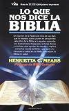 Lo Que Nos Dice la Bíblia, Henrietta C. Mears, 082970485X