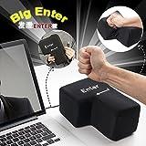 Hot Sale!!!Unbreakable Big Enter Key Nap Pillow,Sponge USB Anti-stress Relief Super Size Hand Rests (Black)