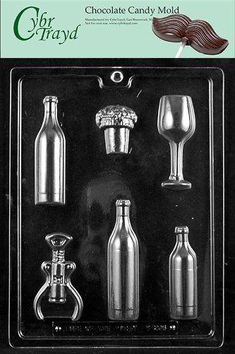 Box Candy Molds (Cybrtrayd M206 Wine Kit for Specialty Box Chocolate Candy Mold with Exclusive Cybrtrayd Copyrighted Chocolate Molding Instructions)