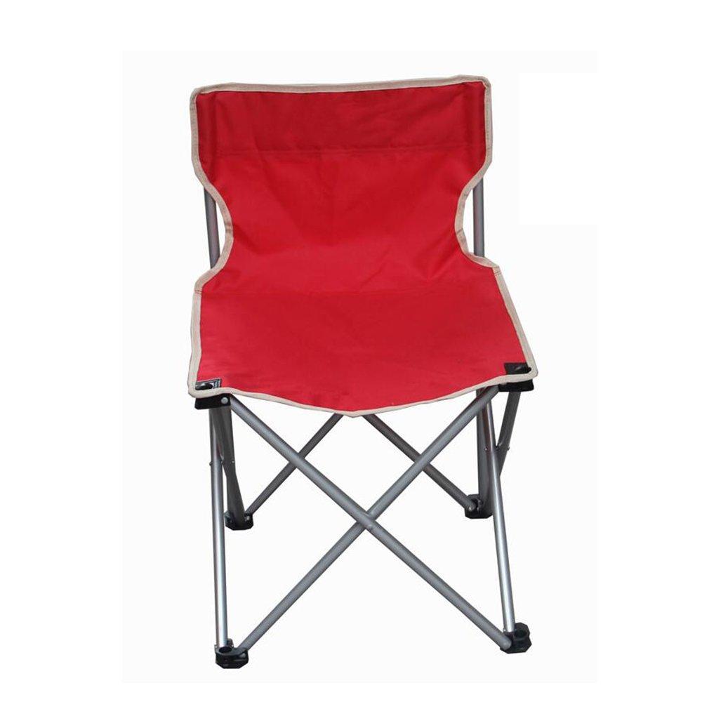 LDFN Beweglicher Kampierender Stuhl Freienmultifunktionsstuhl Strand-Stuhl Freizeit Oxford Gewebe-Gegenständer-Stuhl,ROT-363660cm