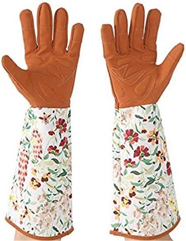 ガーデニング用手袋 印刷された園芸用手袋と長袖手首の保護庭の植栽剪定庭の手袋 園芸 採掘 植栽 枝切り 防護手袋