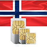 1GB of Mobile Internet data sim card to use in Norway for 30 Days Rechargeable