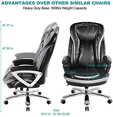 Smugdesk High Back Executive Office Chair With Thick Padding