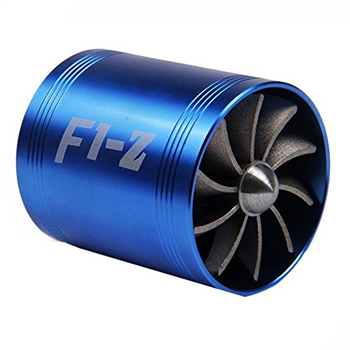Turbo Supercharger - Sikiwind F1-Z Double Supercharger Turbine Turbo charger Air Intake Fuel Saver Fan by for Air Intake Hose Diameter 2.5