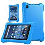 Fire 7 2015 Case, Cellaria [Kids Case] - [Shockproof][Drop Protection][Heavy Duty] Kids Children EVA Armor Box Case With Handle For Amazon Fire 7 Tablet (will only fit Fire 7'' 2015 release), Blue