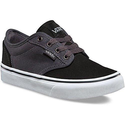 Price comparison product image Vans VA349PMF4 Kids Atwood Shoes, (2 Tone) Black/Asphalt, 3 M US Little Kid