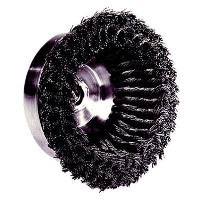 SEPTLS80412636 - Weiler Double Row Heavy-Duty Knot Wire Cup Brushes - 12636