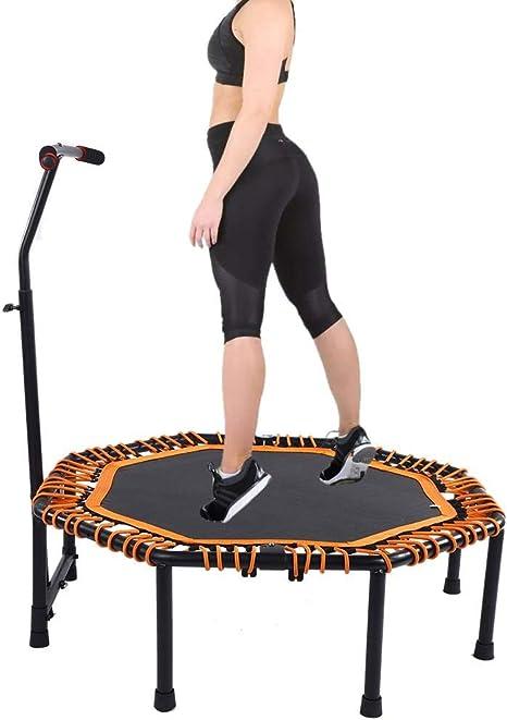 Mini trampolín de fitness con barandilla ajustable y almohadilla ...