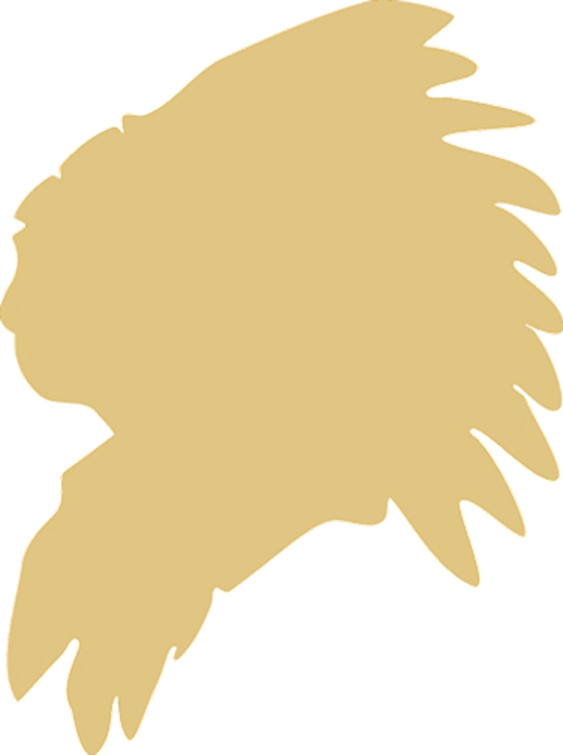 Indian Head Unfinished MDF Wood Cutout Variety of Sizes USA Made Home (6 in)