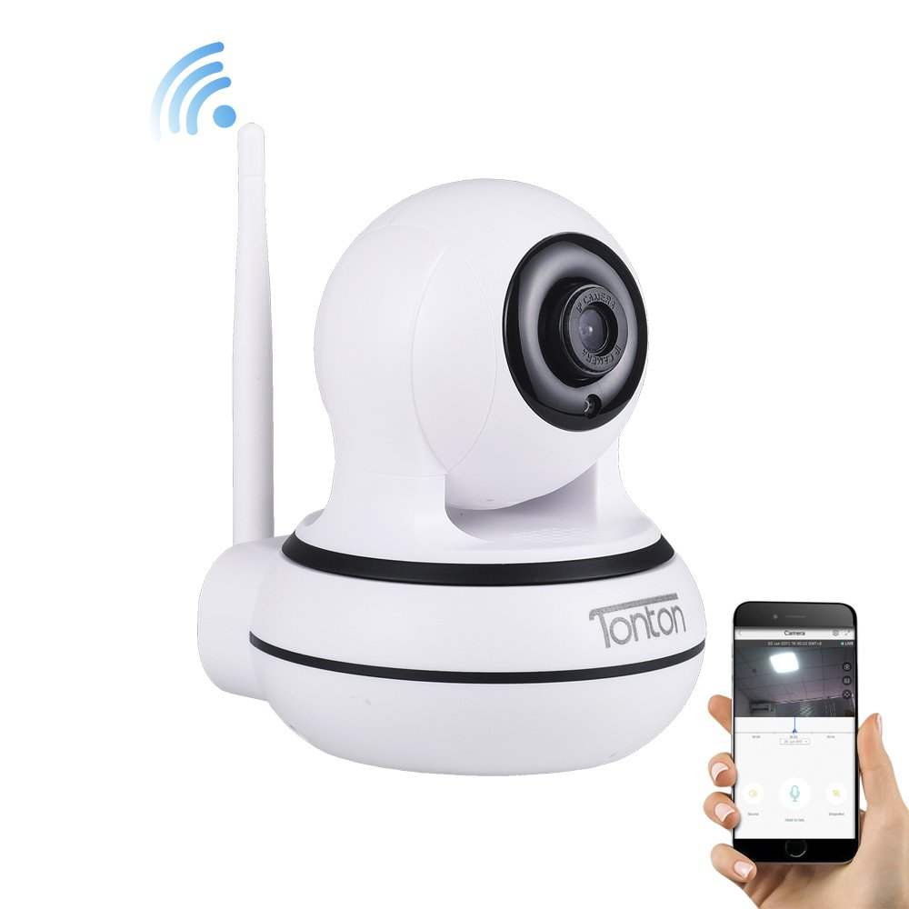 Tonton 1080P Full HD Wireless WiFi Security IP Camera Pan Tilt Zoom Home Video Monitor with Two Way Audio, Smart Motion Detection and Clear Night Vision