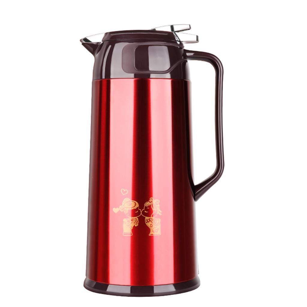 FYCZ Caraffa Termica, Bottiglia di Vetro per Uso Domestico Grande capacità Bottiglia di Acqua Calda Europea caffè tè Latte A Prova di Perdite 1.9L T1