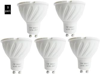 5 Pack EEG lighting GU10 LED 40W Halogen Equivalent, 5W, 40° Beam Angle