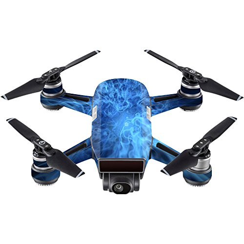 MightySkins Skin for DJI Spark Mini - Blue Mystic Flames | Protective, Durable, and Unique Vinyl Decal wrap Cover | Easy to Apply, Remove, and Change Styles | Made in The USA