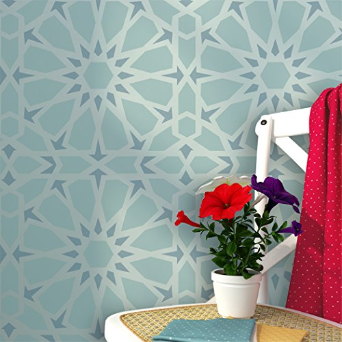 J BOUTIQUE STENCILS Zelij Moroccan Wall Stencils Reusable Template for DIY Decor Wall Interiors