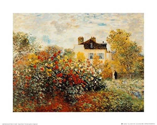 The Artist's Garden in Argenteuil Art Print Art Poster Print by Claude Monet, 12x10