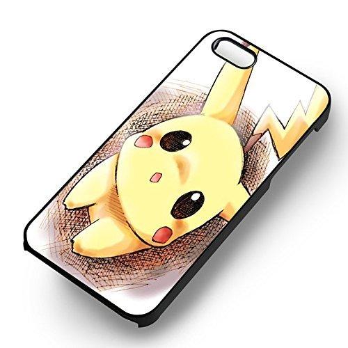 Pikachu Cute Drawing Art pour Coque Iphone 6 et Coque Iphone 6s Case (Noir Boîtier en plastique dur) U2L3MC