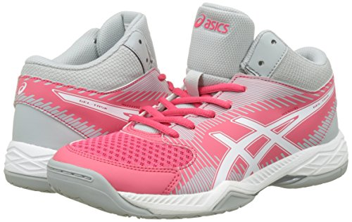 Chaussures rouge task Blanc Femme Gris Rouge Mt Volleyball De Asics Gel Rot Moyen Pour rncPSrqCRw