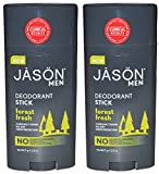 Jason Natural Products Men's Deodorant Stick Forest Fresh Pack of...