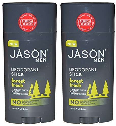 Jason Natural Products Men's Deodorant Stick Forest Fresh Pack of 2 - Jason Healthy