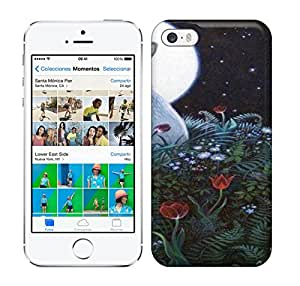 Best Power(Tm) HD Colorful Painted Watercolor Moonlight Magic Hard Phone Case For Iphone 5/5S wangjiang maoyi