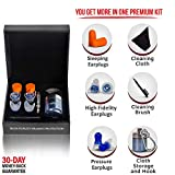 High Fidelity Earplugs for Concerts, Earplugs Sound Blocking, Ear Plugs for Sleeping Noise Cancelling, Ear Protection & Noise Reduction, 27 db NRR Acoustic Filter Earplugs for MEDIUM Ear Canals