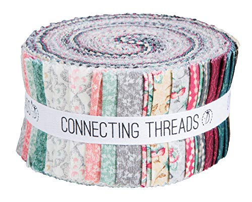 "Connecting Threads Print Collection Precut Quilting Fabric Bundle (Jardin de Nicollete - 2.5"" Strips)"