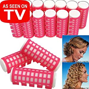 Set Of 12 Hot Water Curlers Gel Infused Just Heat - 1 Inch
