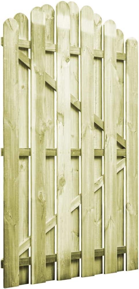 yorten Puerta de Jardín Rústico Resistente a la Intemperie y a la Putrefacción 100x150 cm Arqueada Madera de Pino Impregnada: Amazon.es: Hogar