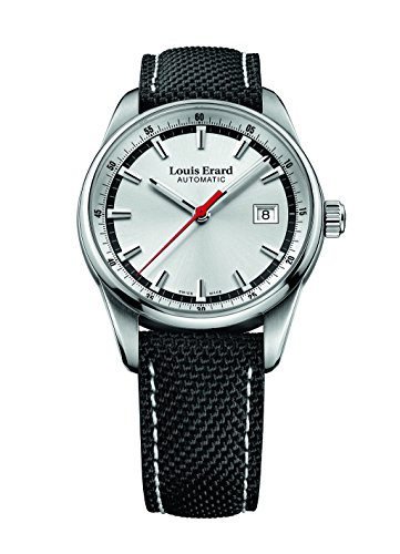 Louis Erard Heritage Collection Swiss Automatic Silver Dial Men's Watch 69105AA11 Nylon Bracelet