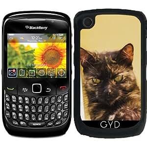Funda para Blackberry Curve 8520/8530/9300/9330 - Gato Marrón by Gatterwe