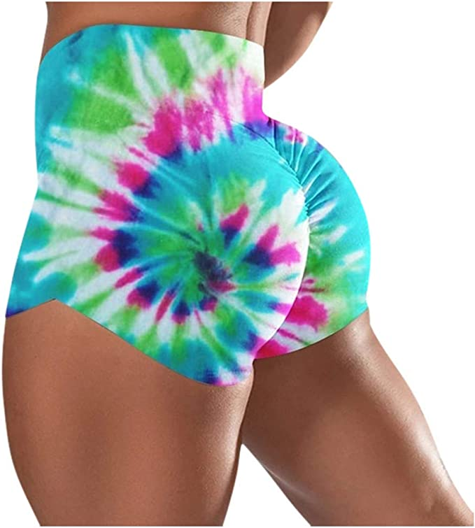 NUWFOR Womens Workout Shorts Scrunch Booty Gym Yoga Pants High Waist Butt Lifting Sports Leggings