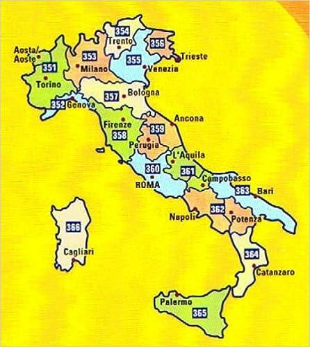MIchelin Local Road Map 362 : Campania - Basilicata (Italy) scale 1 ...
