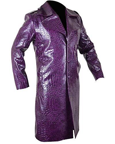 The Joker Suicide Squad Jared Leto Purple Coat - Halloween -