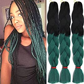 Jumbo Braids Colorful Synthetic Kanekalon Hair Extensions for DIY Crochet Box Braiding 3Pcs 100g/Pcs 24Inches #4 Color