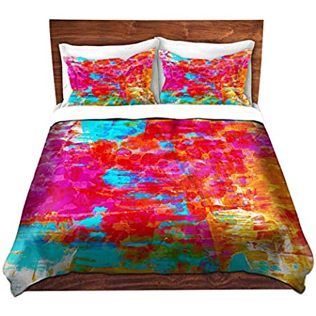 DiaNoche Designs Julia Di Sano Abstract Jungle V Brushed Twill Home Decor Bedding Cover 8 King Duvet Sham Set