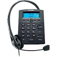 Headset com Identificador de Chamadas Base Discadora Conjunto Telefonista Elgin HST8000, Elgin, HST8000, Preto